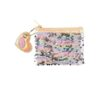Purse with sequins double sided with pink and golden colour