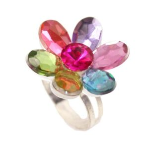 Ring with colourful daisy