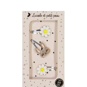 """Gift Sets """"Daisies"""" with three Hair Clips"""