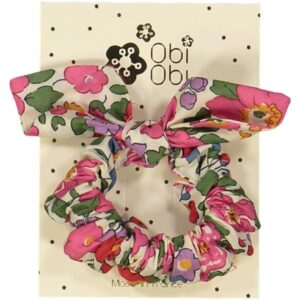 Handmade Scrunchie with flowers and bow