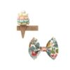 Set of hand- made hair clips, triple ice cream and bow