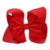 Hand- made alligator clip with large red bow