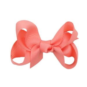 Hand- made alligator clip with mini coral bow