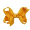 Hand- made alligator clip with mini yellow mustard bow