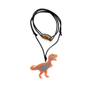 Necklace with dinosaur