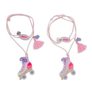 Pair of necklaces with rollers BFF