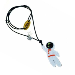 Necklace with astronaut