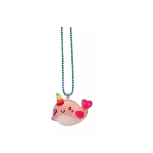 Handmade Necklace with cute pink creature of sea_Fish