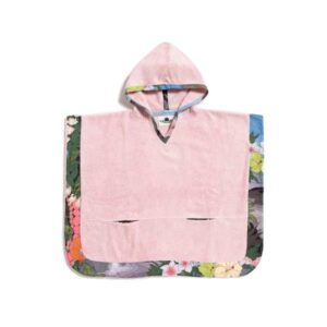 Surf n' Turf Pink Kids Poncho with hood of 100% cotton