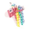 Hand- made alligator clip with embroidered colourful unicorn