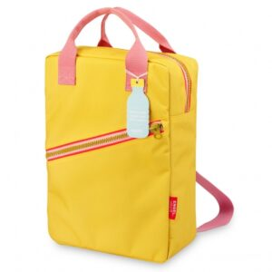 Recycled Plastic Backpack large 'Zipper Yellow'