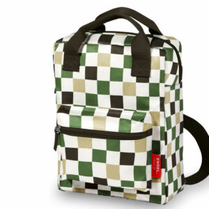 Recycled Plastic Backpack large 'Checked'
