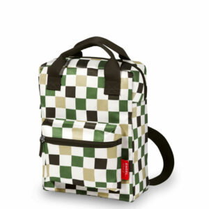Recycled Plastic Backpack medium 'Checked'