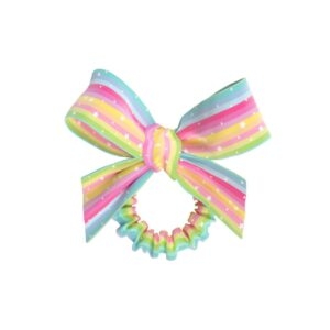 NEO INVISIBOBBLE KIDS SLIM SPRUNCHIE w. BOW Let's Chase Rainbows